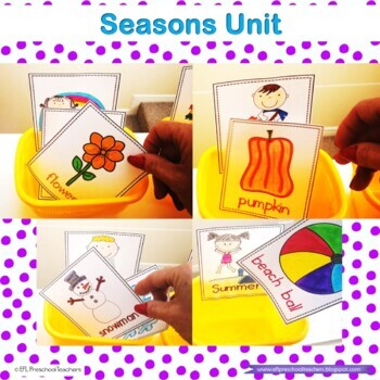 Seasons Resources for Preschool ELL
