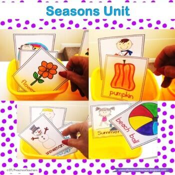 Seasons Resources for Preschool ELL