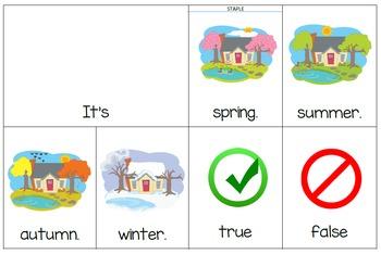 Seasons Flip Books (Lowercase letters)