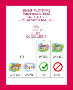 Seasons Flip Books (Uppercase letters)