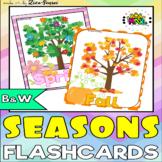 Seasons Four Seasons Fall Autumn Flashcards B&W Included Set 2