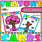 Seasons Four Seasons Fall Autumn Flashcards Set 3