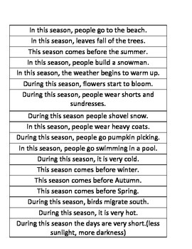 Seasons Game
