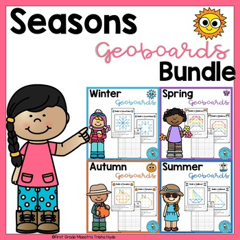 Seasons Geoboard Task Cards Bundle