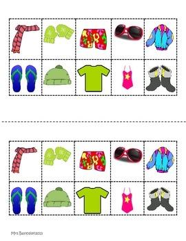 Seasons Graphic Organizers