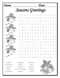 Seasons Greetings Word Search
