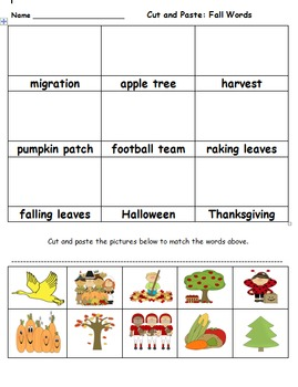 Second Grade Fall Reading, Comprehension and Writing Activities
