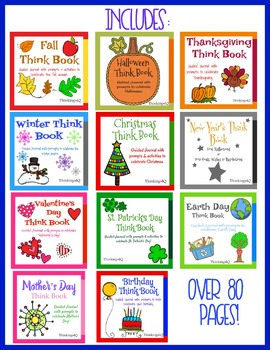 Seasons and Holidays Think Book Student Journal Bundle