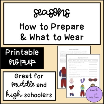 Seasons: How to Prepare and What to Wear