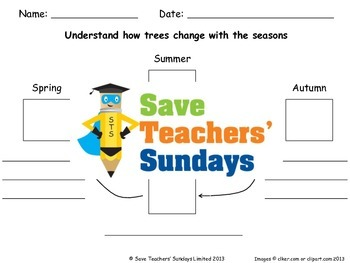 Seasons - How trees change Lesson plan and Worksheet