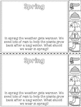 Seasons {Interactive Reader}