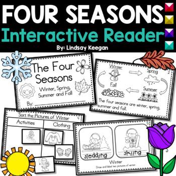 Seasons Interactive Reader- Winter, Spring, Summer and Fall