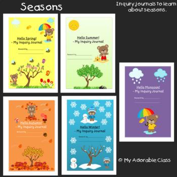 Seasons Journal - Seasons Worksheets - All About Seasons