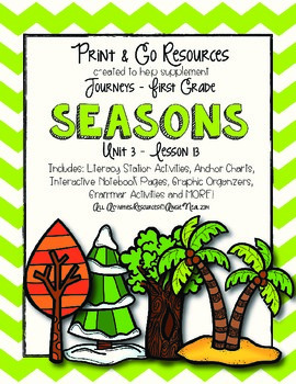 Seasons Journeys First Grade Print and Go
