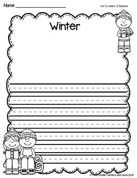 Seasons aligned with Journeys First Grade Unit 3 Lesson 13