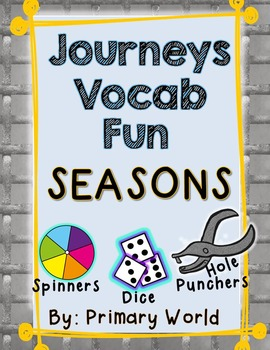 Seasons Journeys First Grade Unit 3 Lesson 13 Vocabulary