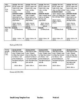 Seasons LG/SG Lesson Plan - Aligns with GA PreK