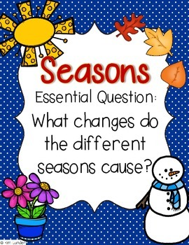 Seasons Lesson Plans and Supplemental Materials for Journeys