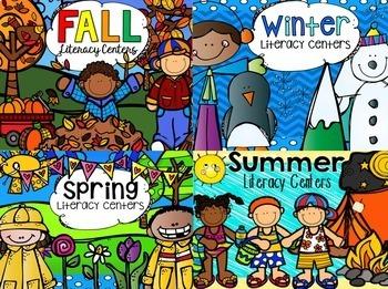Seasons Literacy Centers {Bundle} CCSS