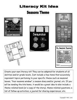 Seasons Literacy Kit Idea