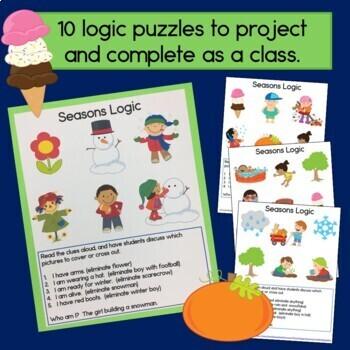 Seasons Logic Puzzles