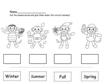 Seasons Match! Sock Monkey Theme!