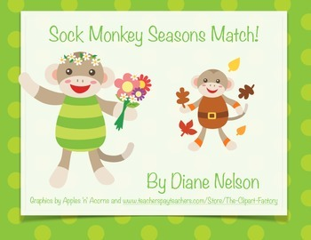Seasons Match! Sock Monkey Theme!