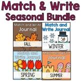 Season Themed Writing Journal Bundle: Match & Write