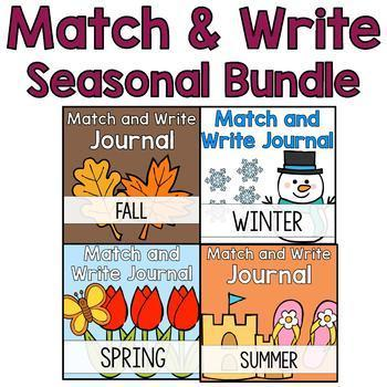 Season Themed Writing Journal Bundle: Match & Write