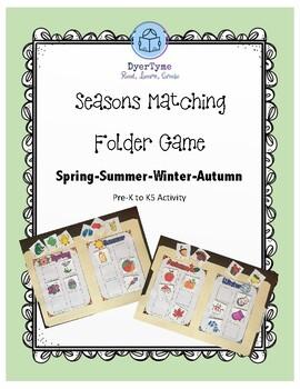 Seasons Matching Folder Game