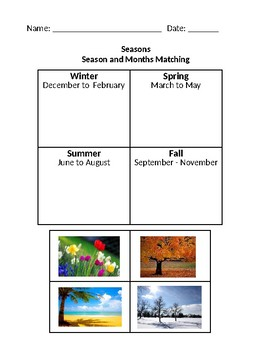 Seasons Matching with the Months