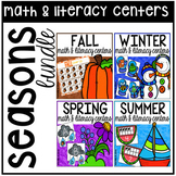 Seasons Math and Literacy Centers BUNDLE for Preschool, Pre-K, & Kindergarten