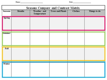 Seasons Matrix
