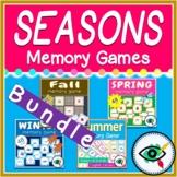 Four Seasons Memory Games Bundle for Autumn, Winter, Sprin