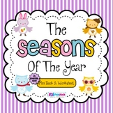 Seasons Mini Book & Worksheet (Spanish included)