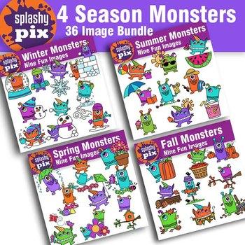 Seasons Monster Bundle Clipart