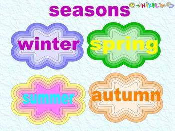 Weather - Seasons - Months - Days of the week - Program