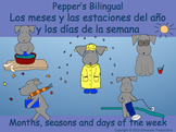Spanish Seasons, Months and Days of the Week with Pepper i