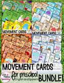 Fall Winter Spring Summer Movement Cards for Preschool and Brain Break BUNDLE