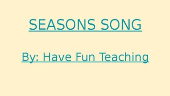 Seasons Music Videos For Students with Special Needs