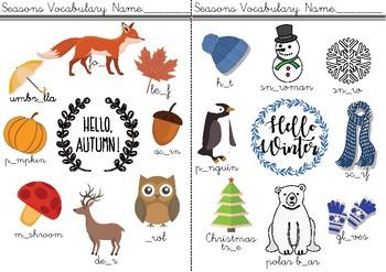 Seasons Notebook!