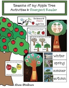 4 Seasons Activities: Seasons Of My Apple Tree: Activities & Emergent Reader