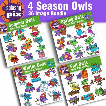 Seasons Owl Bundle Clipart