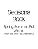 Seasons Pack  Spring, Summer, Fall, Winter (hear, see, sme
