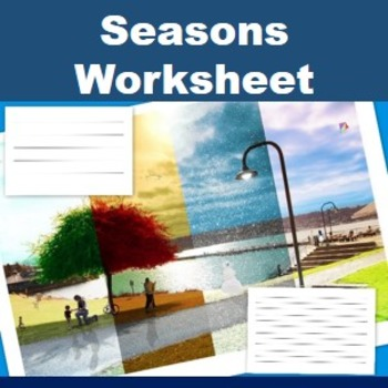 Seasons Picture- 4 seasons in one picture and writing template