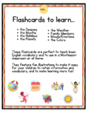 Seasons, Planets, Colors, Family Members, Emotions and the Weather Flashcards