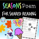 Seasons Poem for Shared Reading - K-1