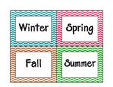 Seasons Poster for Calendar - chevron theme borders