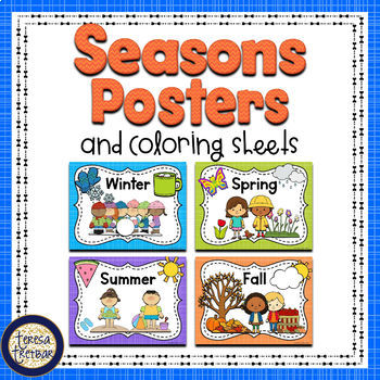 free seasons posters by teresa tretbar teachers pay teachers. Black Bedroom Furniture Sets. Home Design Ideas