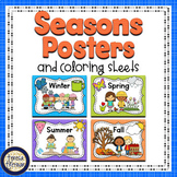 FREE Seasons Posters and Coloring Sheets